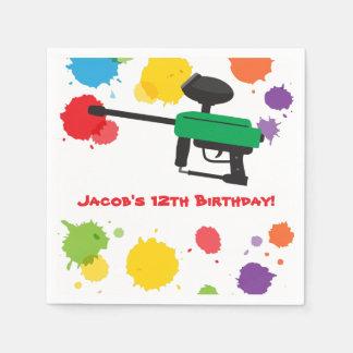 Splat Paintball Kids Birthday Party Paper Supplies Napkin