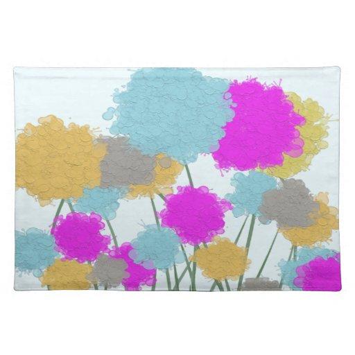 Splat painted flower scene Placemat
