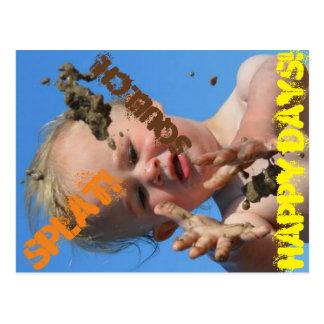Splat, Squelch, Happy Days! Postcard