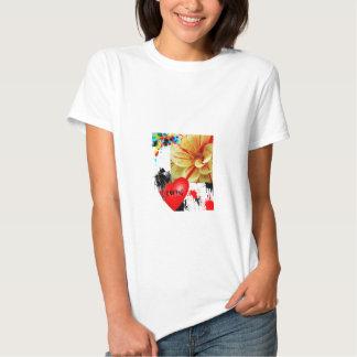 splatered flower t shirt