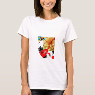 splatered flower T-Shirt