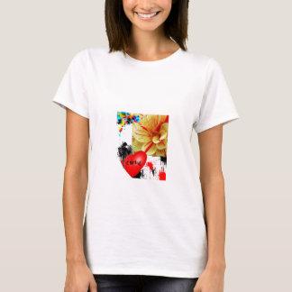 splatered flower T-Shirt