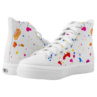 Splatter Abstract Print Shoes