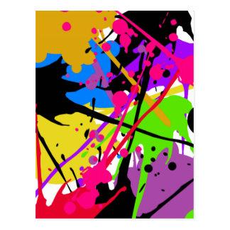 Splatter art graffiti power tarjetas postales