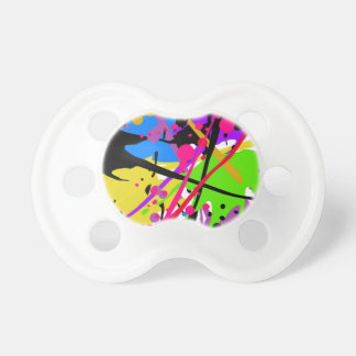 Splatter art graffitti to power pacifier