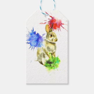 Splatter bunny gift tags