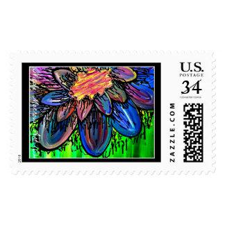 """""""Splatter Flower"""" Postage Stamps!"""