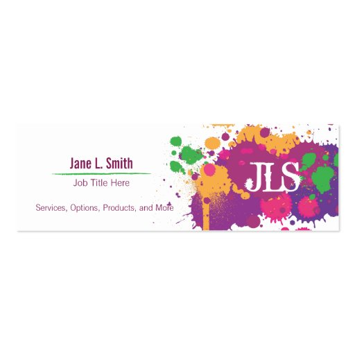 Snap splatter business cards templates zazzle photos on pinterest splatter generic business card template zazzle wajeb Choice Image