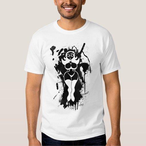 Splatter Girl Shirt (Dark Image for Light Shirts)