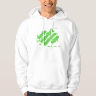 Splatter green hoodie