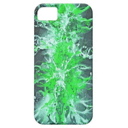 Splatter Grunge Design - green iPhone 5 Cases