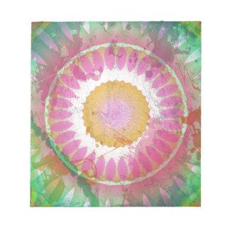 Splatter Grunge Multi-Color Kaleidoscope Notepad