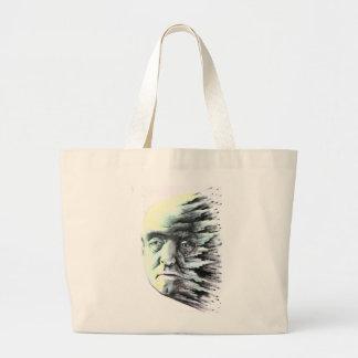 Splatter Head Tote Bags