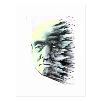 Splatter Head Postcard