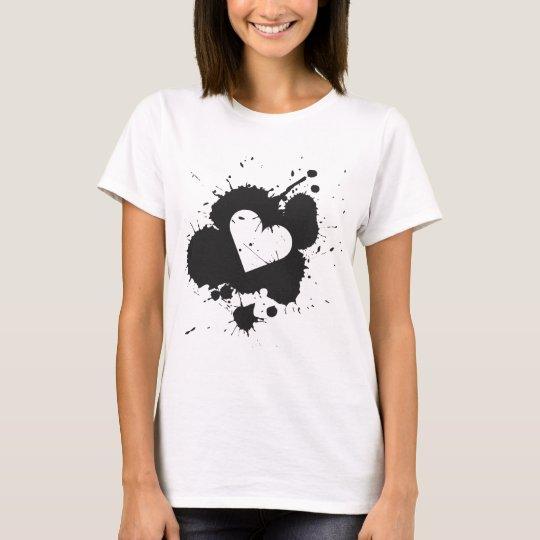 Splatter Heart 2 Women's T-shirt