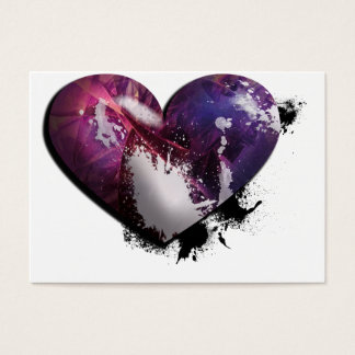 splatter heart business card