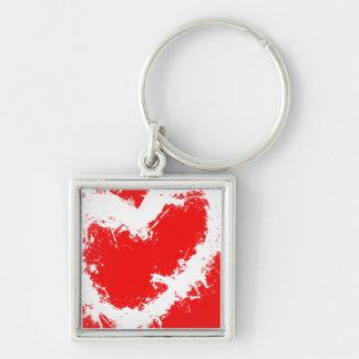 Splatter Heart Keychain