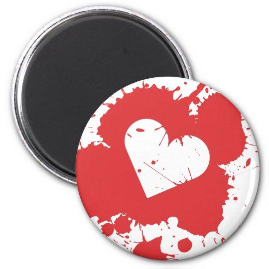 Splatter Heart Magnet