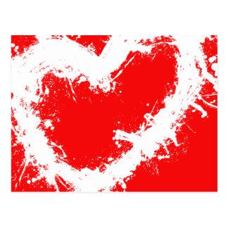 Splatter Heart Postcard