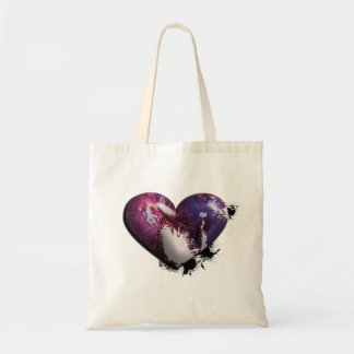 splatter heart tote bag