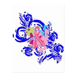 Splatter Me Pink Postcard