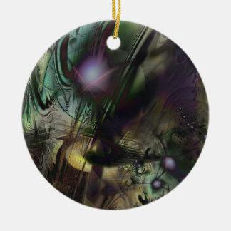 Splatter Paint Ceramic Ornament