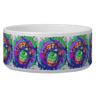 Splatter paint color wheel pattern bowl
