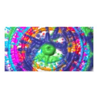 Splatter paint color wheel pattern card