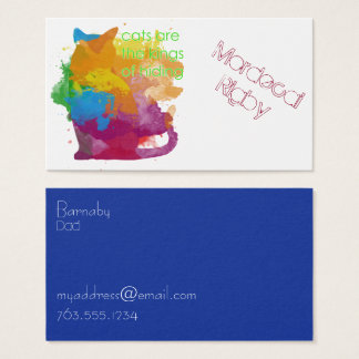 Splatter Paint Kitty Cat Friendship Cards
