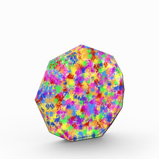 Splatter Paint Rainbow Bright Colorful Background Award