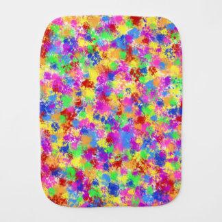Splatter Paint Rainbow Bright Colorful Background Baby Burp Cloths