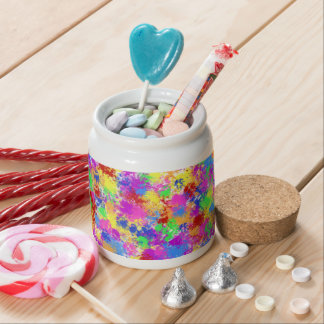 Splatter Paint Rainbow of Bright Color Background Candy Jars