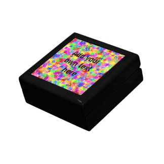 Splatter Paint Rainbow of Bright Color Background Gift Box