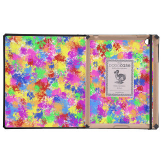 Splatter Paint Rainbow of Bright Color Background iPad Cases