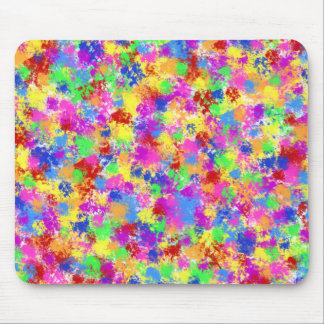 Splatter Paint Rainbow of Bright Color Background Mousepad