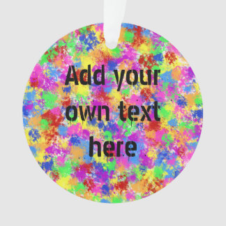 Splatter Paint Rainbow of Bright Color Background Ornament