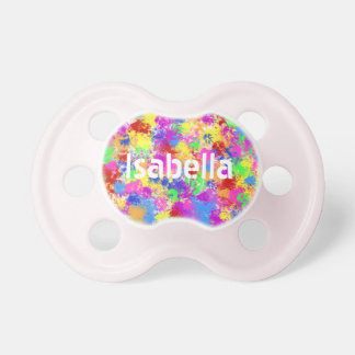 Splatter Paint Rainbow of Bright Color Background BooginHead Pacifier