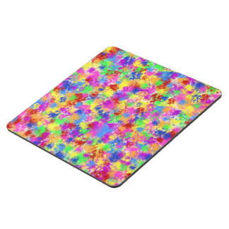 Splatter Paint Rainbow of Bright Color Background Puzzle Coaster