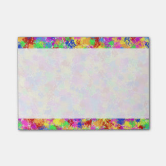 Splatter Paint Rainbow of Bright Color Background Post-it Notes