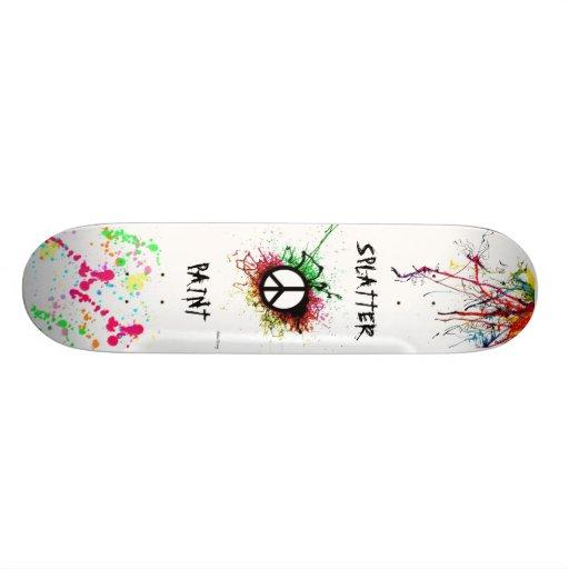 Splatter Paint Skateboard