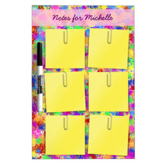 Splatter Paint Sticky Note Personalized Dry-Erase Board