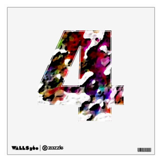 Splatter Paint Visual Texture Art Alphabet Numbers Wall Decal