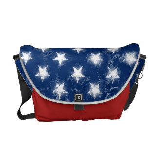 Splatter Painted American Flag Courier Bag