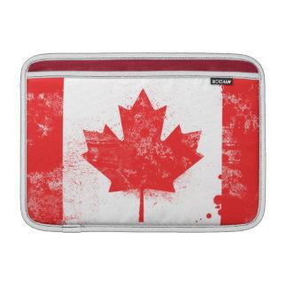 Splatter Painted Flag of Canada Sleeve For MacBook Air
