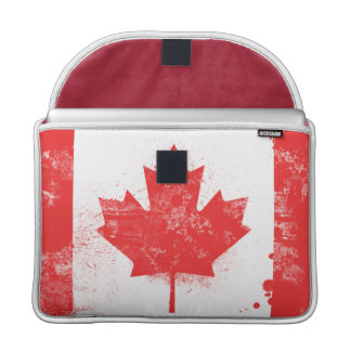 Splatter Painted Flag of Canada Sleeve For MacBook Pro