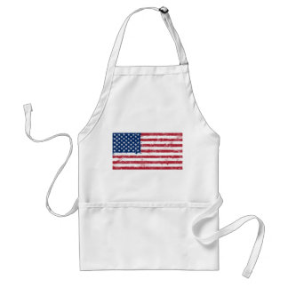Splatter Painted Flag of the USA Adult Apron