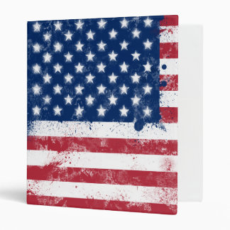 Splatter Painted Flag of the USA Binder