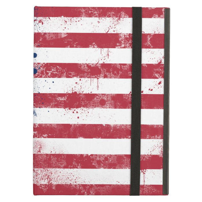 Splatter Painted Flag of the USA iPad Air Cover