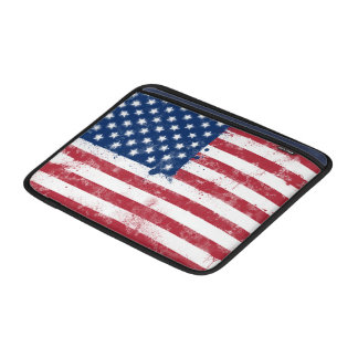 Splatter Painted Flag of the USA MacBook Air Sleeve