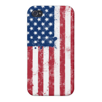 Splatter Painted Flag of the USA iPhone 4/4S Cases